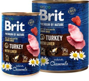 karma mokra dla psa brit premium by nature indyk wątroba