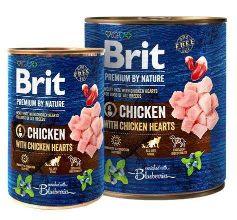 karma mokra dla psa brit premium by nature kurczak i serca drobiowe
