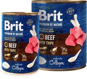 karma mokra dla psa brit premium by nature wołowina żoładki
