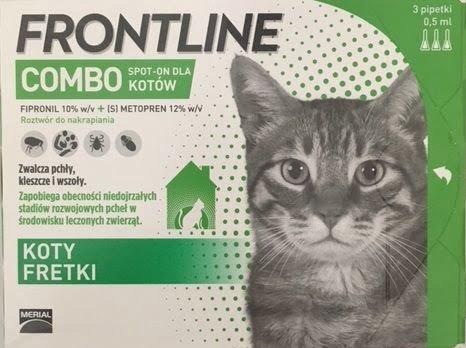 środki na pasożyty dla kota Frontline Combo Kot