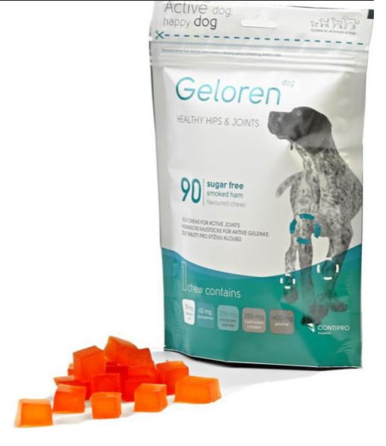 Geloren Dog 450g 90 szt. żelki na stawy dla psa