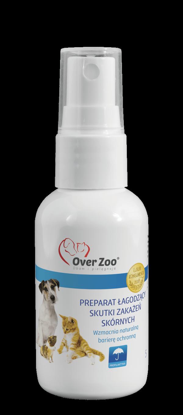 OVER ZOO Preparat łagodzący skutki zakażeń skórnych 50 ml