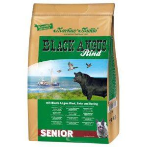 Black Angus Senior Wołowina, kaczka, śledź