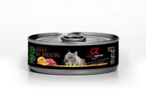 karma dla psa alpha spirit wołowina z melonem