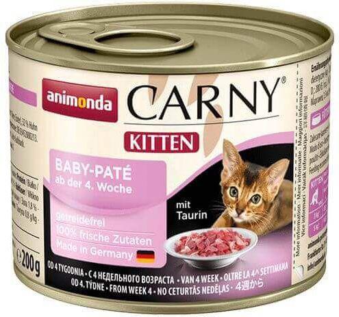 karma mokra dla kociaka baby pate