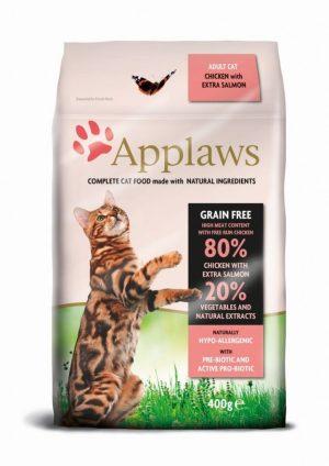 Applaws dla kotów z kurczakiem i łososiem