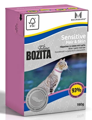 BOZITA Feline Sensitive Hair & Skin 190 g