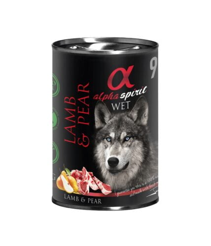 karma dla psa Aplha Spirit Jagnięcina Gruszka
