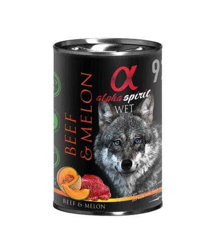 karma mokra dla psa Alpha Spirit Wołowina Melon