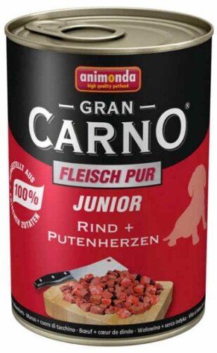 ANIMONDA GranCarno Junior - wołowina + serca indycze