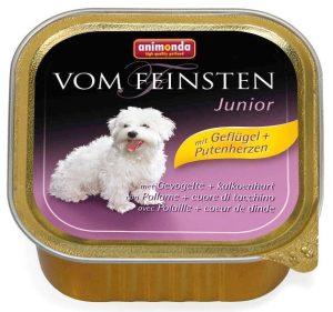 ANIMONDA Vom Feinsten Junior - drób + serca indycze (150 g)