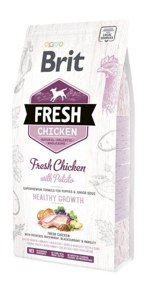 karma sucha dla szczeniaka i psa młodego brit fresh kurczak z ziemniakami