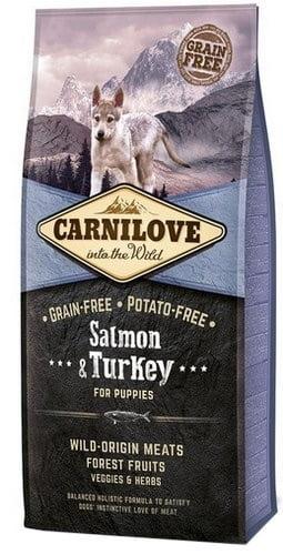 CARNILOVE Dog Puppy Salmon&Turkey sucha karma dla szczeniąt