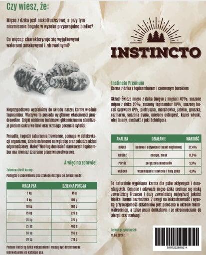 karma pieczona dla psa Instincto Dzik