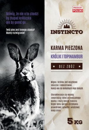 instincto karma sucha dla psa królik i topinabur