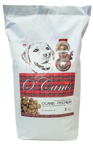 O'Canis Premium sucha karma dla psa z wołowiną 65% mięsa