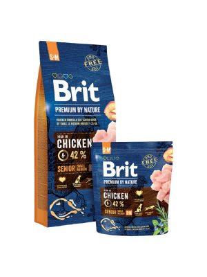 sucha karma dla psów small medium brit care senior