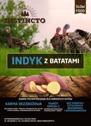 Instincto Indyk z batatami i żurawiną