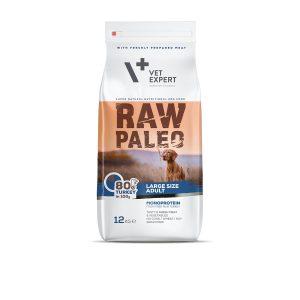 karma sucha vetexpert raw paleo z indykiem dla psów ras dużych