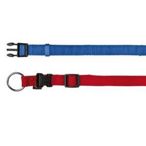 TRIXIE Obroża Premium nylonowa - niebieska/czerwona/czarn