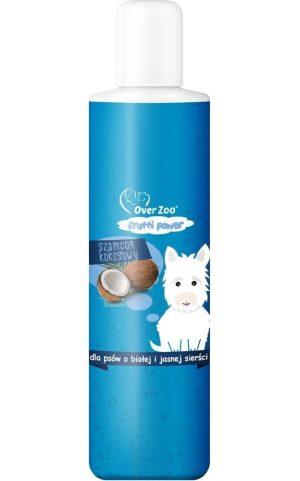 over zoo szampon kokosowy do białej sierści