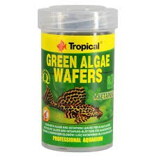 pokarm dla glonojadów, tonące wafelki, green algae waffers tropical