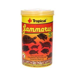 suszony kiełż zdrojowy do karmienia żółwi i dużych ryb akwariowych tropical