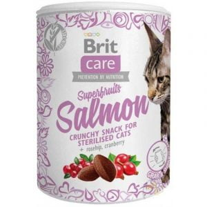 przysmak dla kota brit care superfruits łosoś