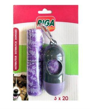 RIGA Pudełeczko + 3 rolki woreczków zapachowych na odchody
