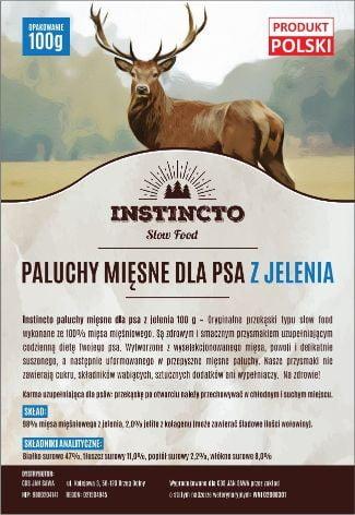 Instincto Paluchy mięsne dla psa z jelenia 100 g