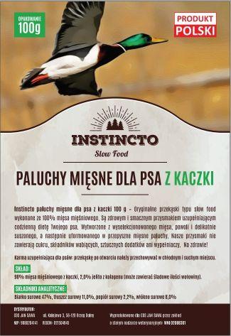 Instincto Paluchy mięsne dla psa z kaczki 100 g