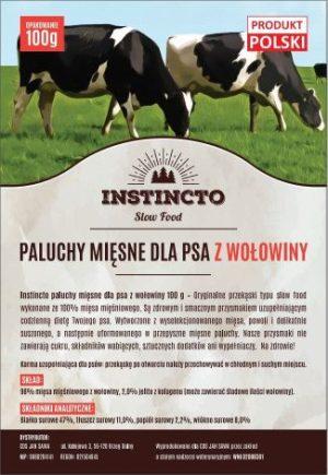Instincto Paluchy mięsne dla psa z wołowiny 100 g