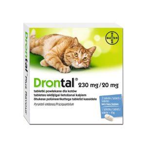 Drontal Tabletka na odrobaczanie dla kotów 230 mg + 20 mg