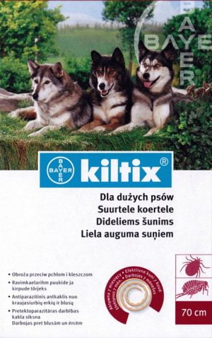 Bayer Kiltix obroża dla dużych psów 70 cm