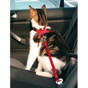 TRIXIE Szelki samochodowe dla kota - czerwone