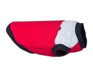 bluza denver dla psa amiplay czerwono szara