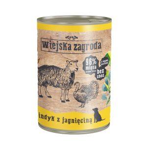 karma mokra dla psa Wiejska Zagroda Indyk z Jagnięciną