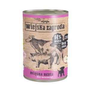 karma mokra dla psa Wiejska Zagroda Rybna Uczta dla szczeniąt