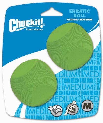 CHUCKIT Erratic Ball Medium 2 pak