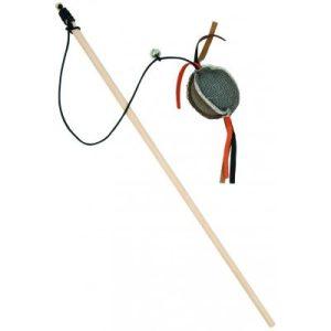 BARRY KING Drewniana Wędka z Piłką mocnego materiału 5,5 x 4 cm / 40 cm