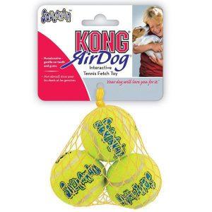 kong zabawka dla psa piłki tenisowe piszczące 3 sztuki
